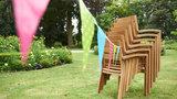 Aurora chaises empilables Teck FSC_