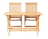 Table pliante en teck ALEXIA 130 x 74 cm_