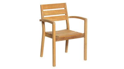 Aurora chaises empilables Teck FSC