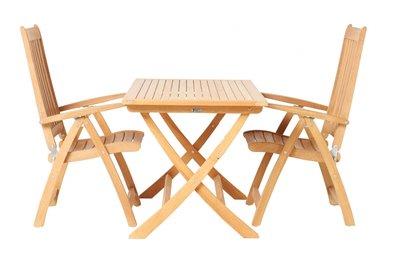 ALEXIA table pliante carrée  70 x 70 cm