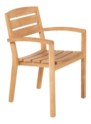 Traditional Teak CARLOS stacking chair
