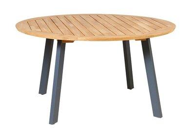 Teak DIANA MOSAIC table aluminium antraciet legs
