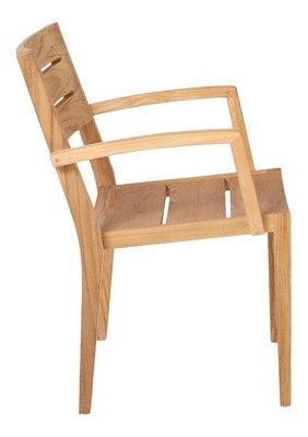 Teak GRACE stacking chair