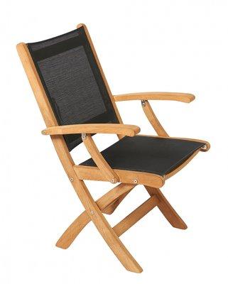 Teak KATE folding arm chair