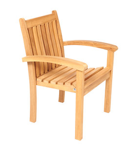 Traditional Teak Victoria stacking chair
